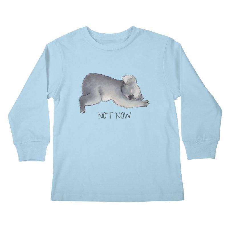 Koala Sketch - Not Now - Lazy animal Kids Longsleeve T-Shirt by Beatrizxe
