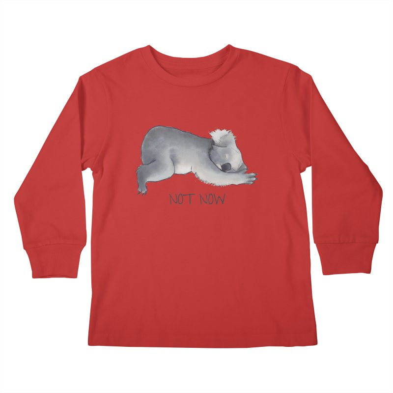 Koala Sketch - Not Now - Lazy animal Kids Longsleeve T-Shirt by Beatrizxe