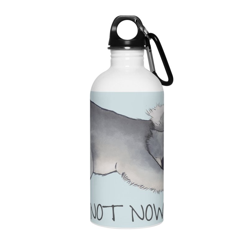 Koala Sketch - Not Now - Lazy animal Accessories Water Bottle by Beatrizxe