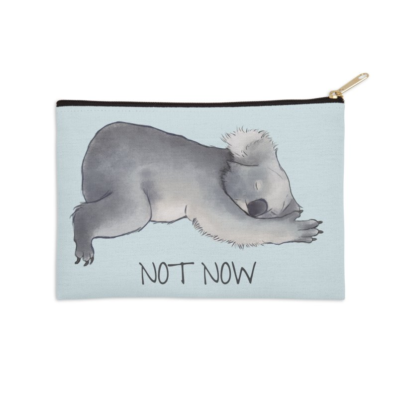 Koala Sketch - Not Now - Lazy animal Accessories Zip Pouch by Beatrizxe