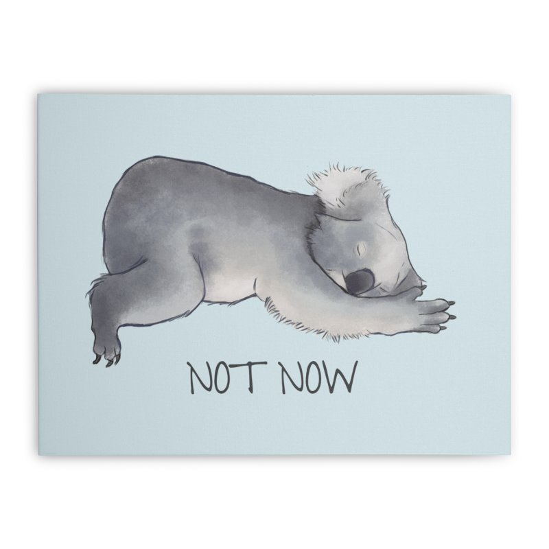 Koala Sketch - Not Now - Lazy animal Home Stretched Canvas by Beatrizxe
