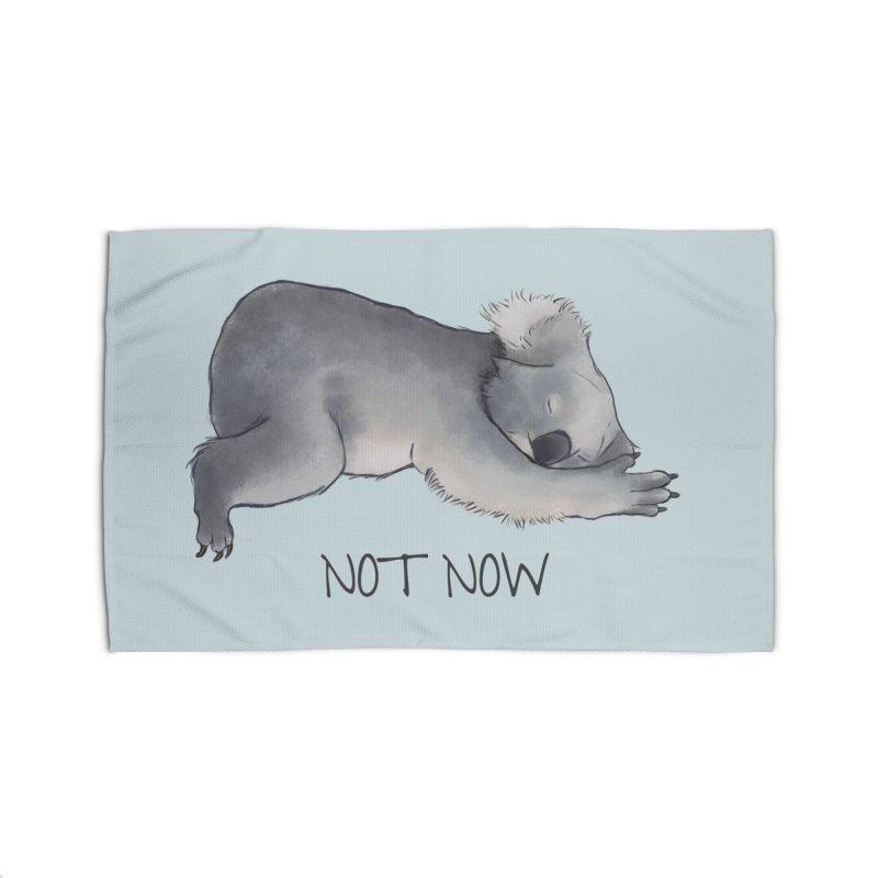 Koala Sketch - Not Now - Lazy animal Home Rug by Beatrizxe