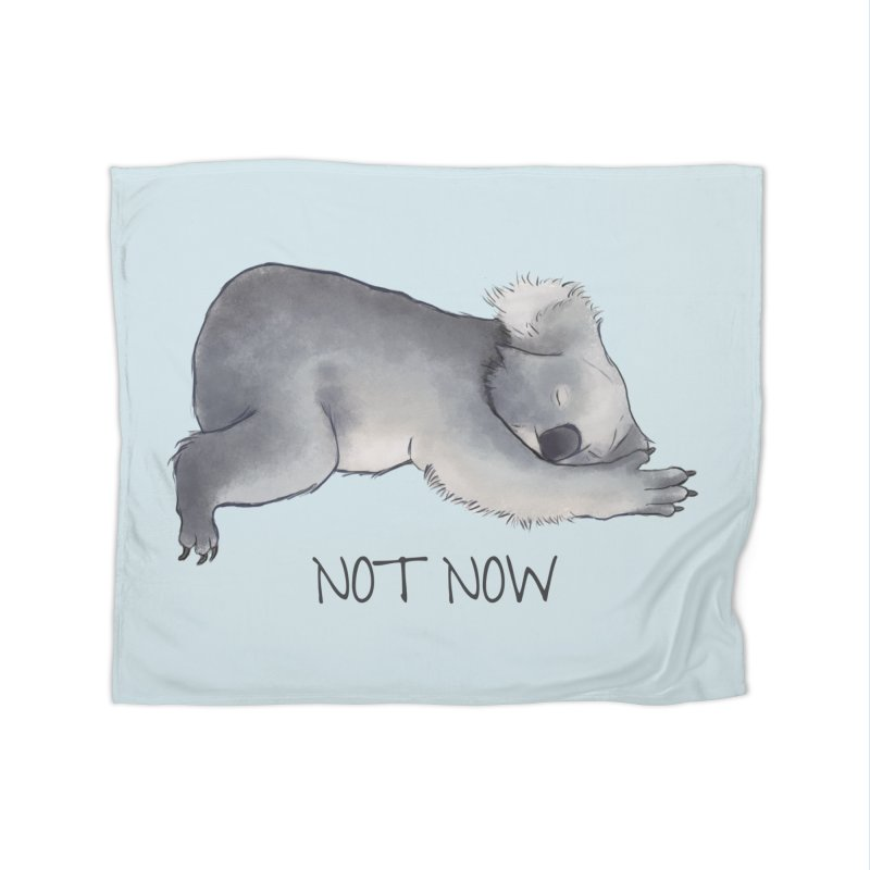 Koala Sketch - Not Now - Lazy animal Home Fleece Blanket Blanket by Beatrizxe