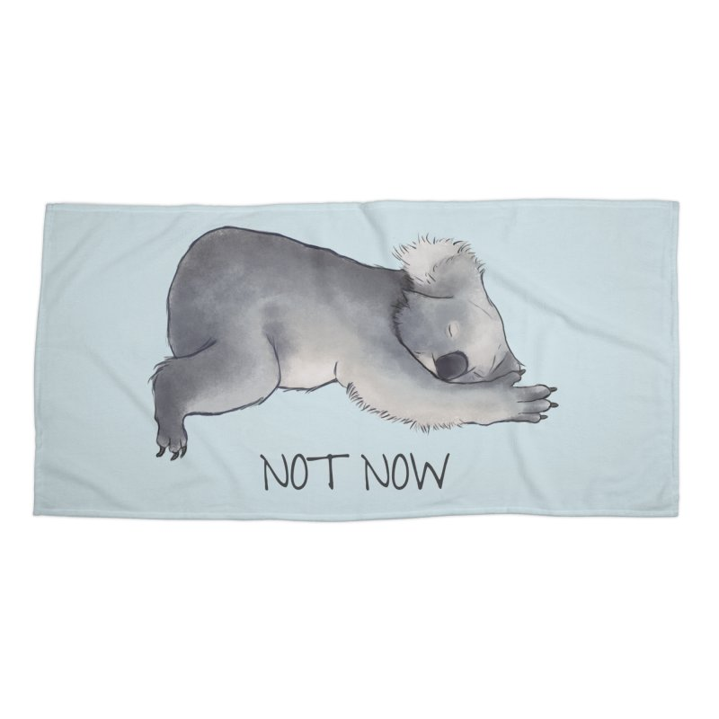 Koala Sketch - Not Now - Lazy animal Accessories Beach Towel by Beatrizxe
