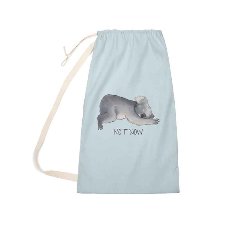 Koala Sketch - Not Now - Lazy animal Accessories Laundry Bag Bag by Beatrizxe