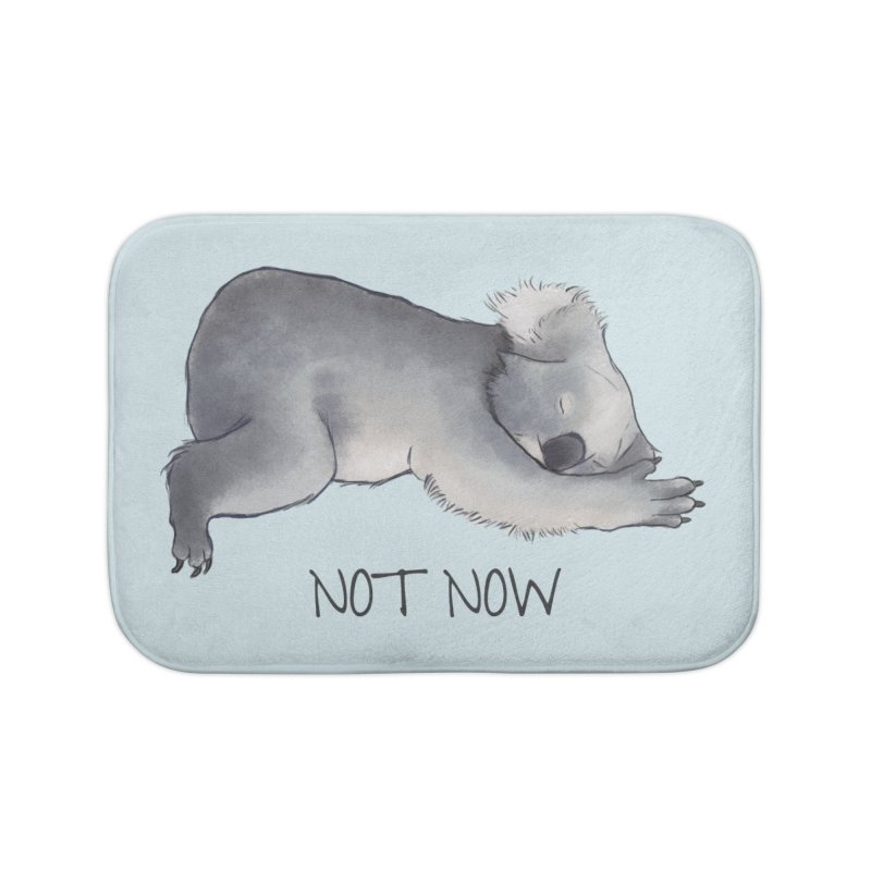 Koala Sketch - Not Now - Lazy animal Home Bath Mat by Beatrizxe