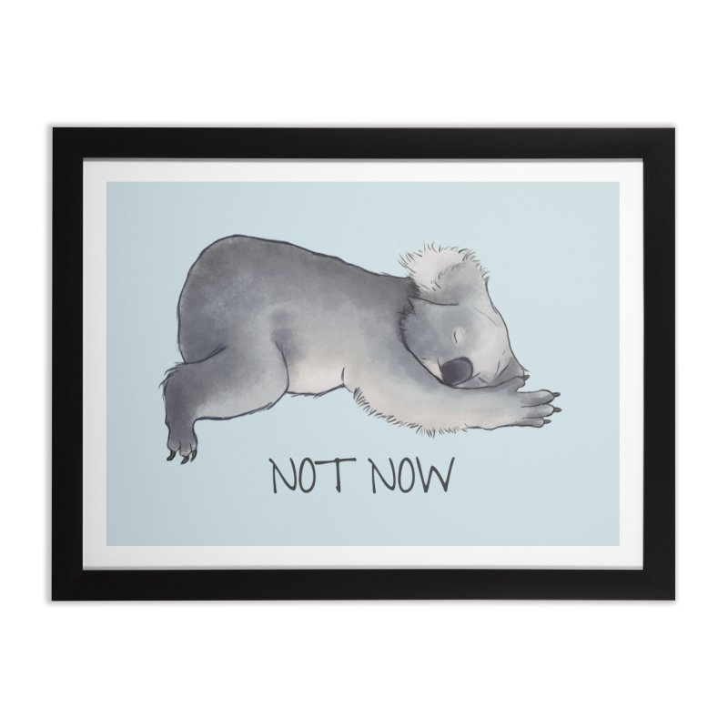 Koala Sketch - Not Now - Lazy animal Home Framed Fine Art Print by Beatrizxe