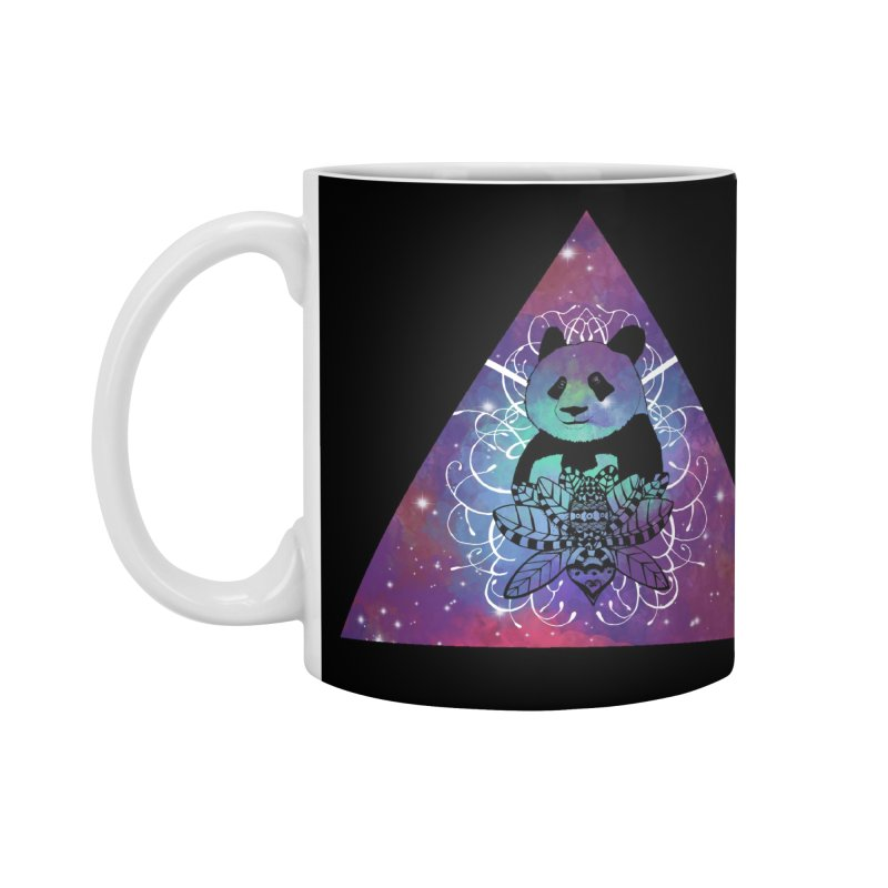 Black Panda in watercolor space background Accessories Mug by Beatrizxe