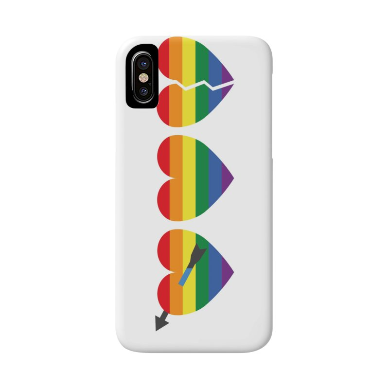 Hearts with gay flag (gay pride) Accessories Phone Case by Beatrizxe