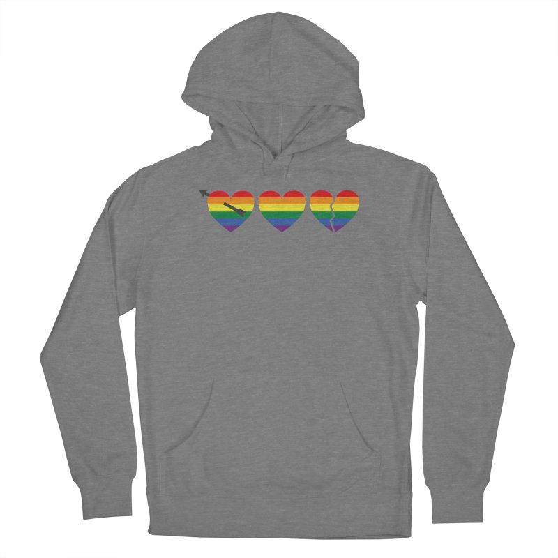 Hearts with gay flag (gay pride) Women's Pullover Hoody by Beatrizxe