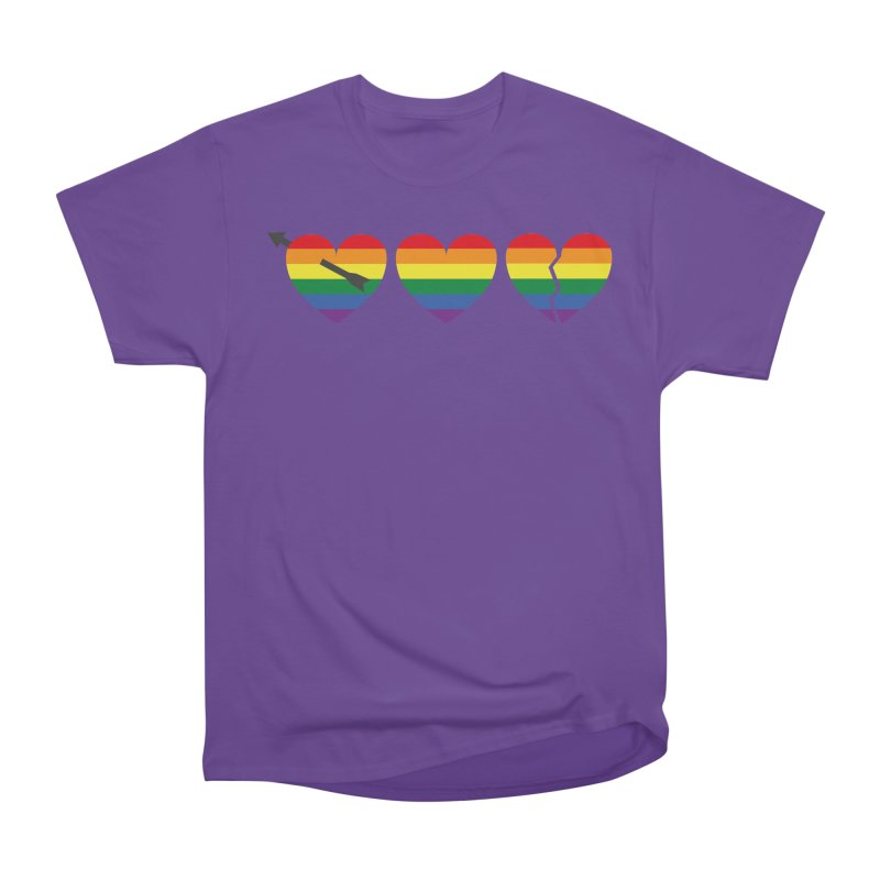 Hearts with gay flag (gay pride) Men's Heavyweight T-Shirt by Beatrizxe