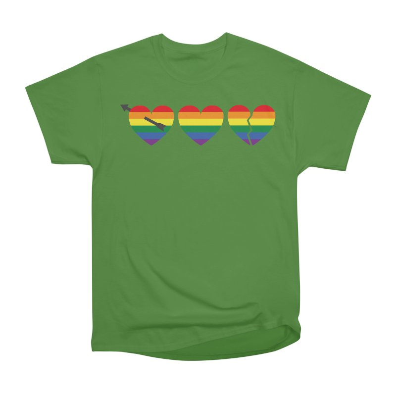 Hearts with gay flag (gay pride) Men's Classic T-Shirt by Beatrizxe