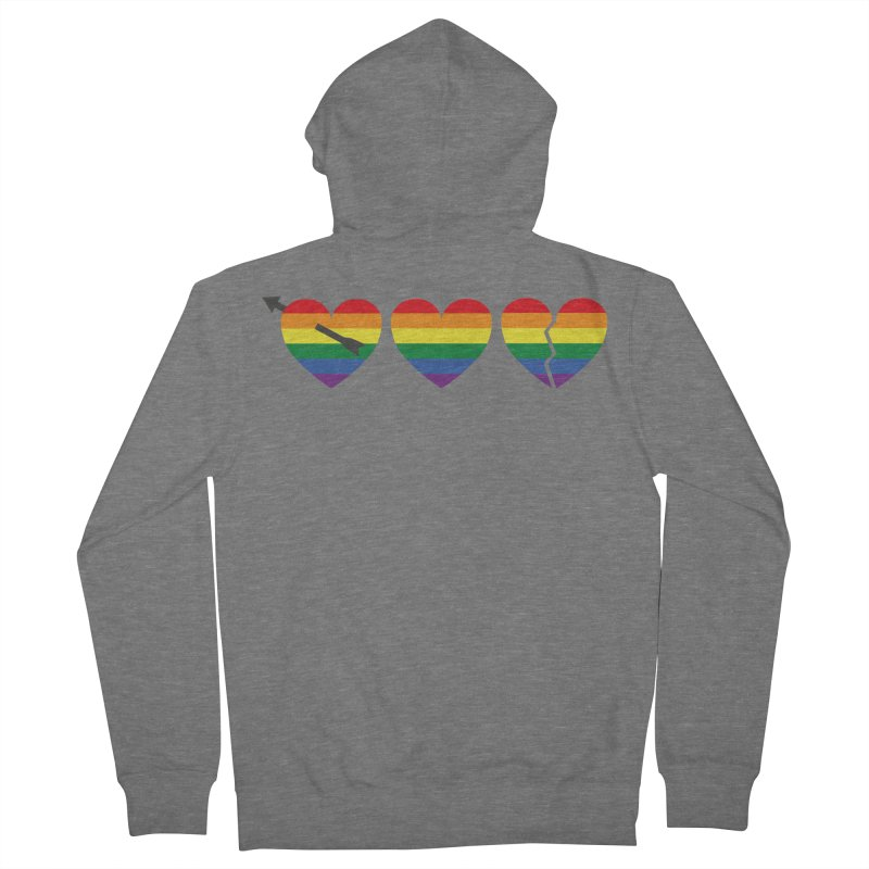Hearts with gay flag (gay pride) Women's Zip-Up Hoody by Beatrizxe