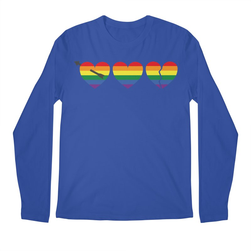 Hearts with gay flag (gay pride) Men's Longsleeve T-Shirt by Beatrizxe