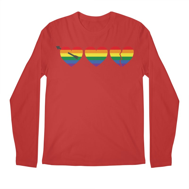 Hearts with gay flag (gay pride) Men's Regular Longsleeve T-Shirt by Beatrizxe