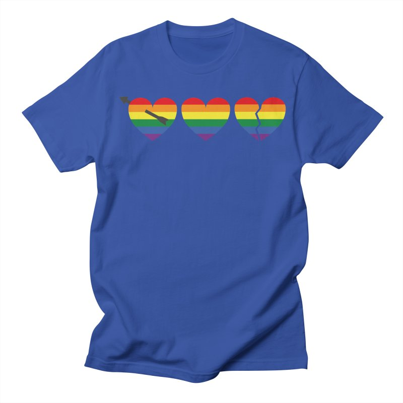 Hearts with gay flag (gay pride) Men's Regular T-Shirt by Beatrizxe