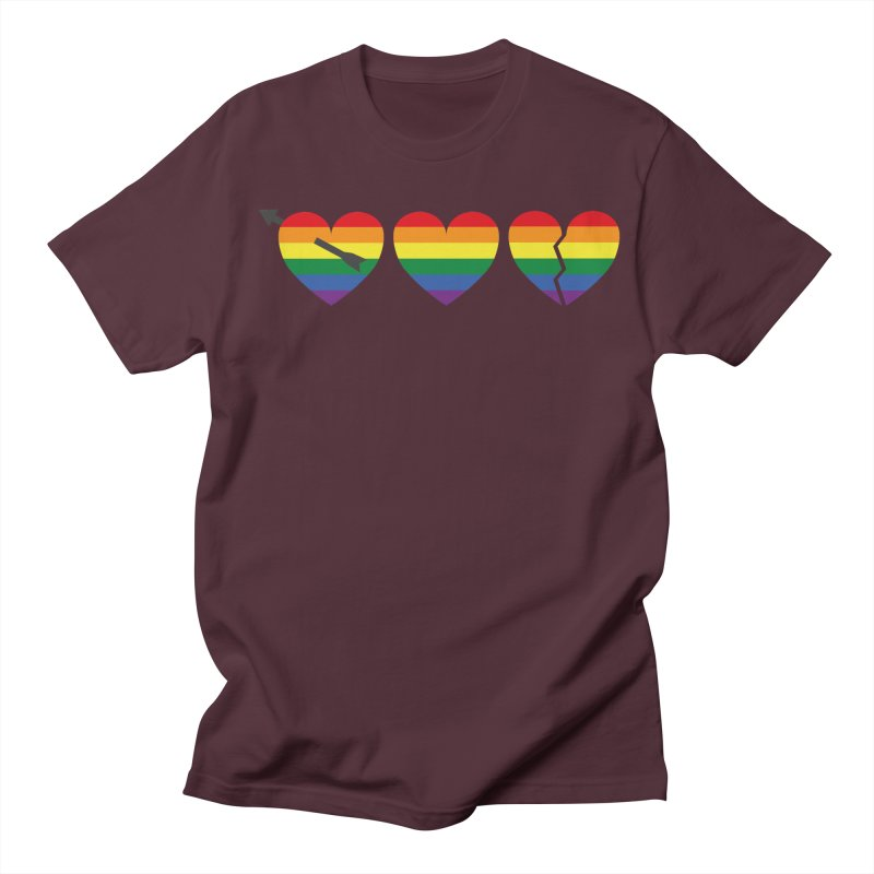 Hearts with gay flag (gay pride) Men's T-shirt by Beatrizxe