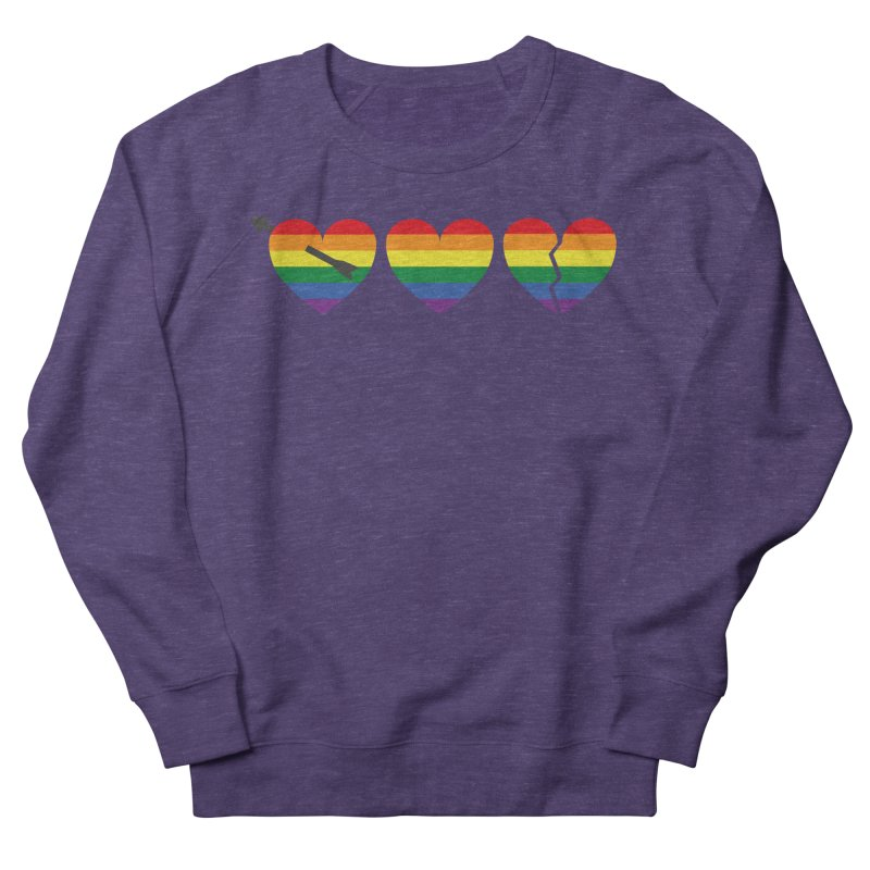Hearts with gay flag (gay pride) Women's Sweatshirt by Beatrizxe