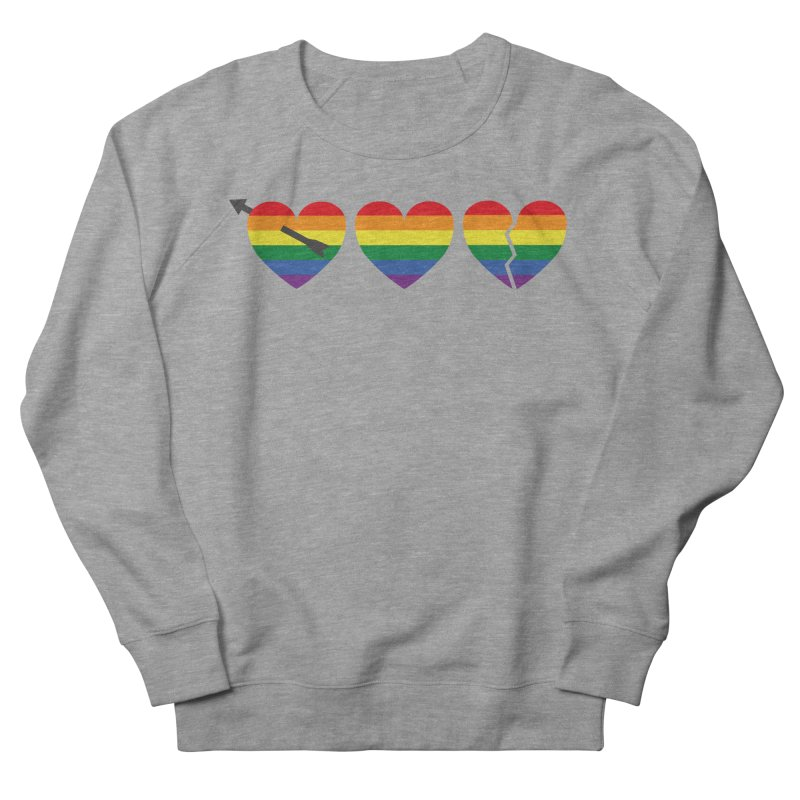 Hearts with gay flag (gay pride) Women's French Terry Sweatshirt by Beatrizxe