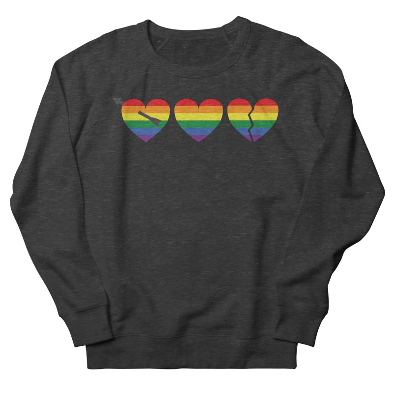 Hearts with gay flag (gay pride) Men's French Terry Sweatshirt by Beatrizxe