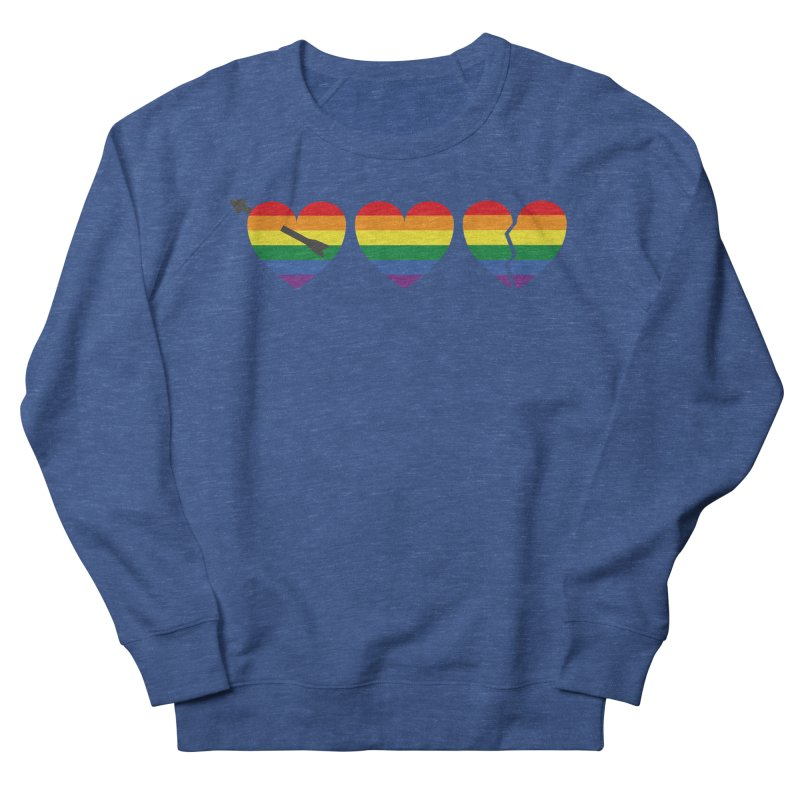Hearts with gay flag (gay pride) Men's Sweatshirt by Beatrizxe