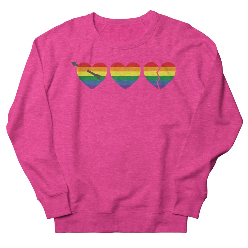 Hearts with gay flag (gay pride) Men's Sweatshirt by Beatrizxe