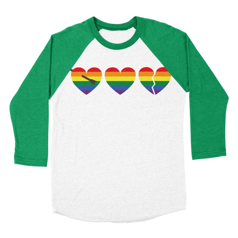 Hearts with gay flag (gay pride) Men's Baseball Triblend T-Shirt by Beatrizxe