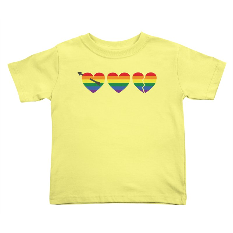 Hearts with gay flag (gay pride) Kids Toddler T-Shirt by Beatrizxe