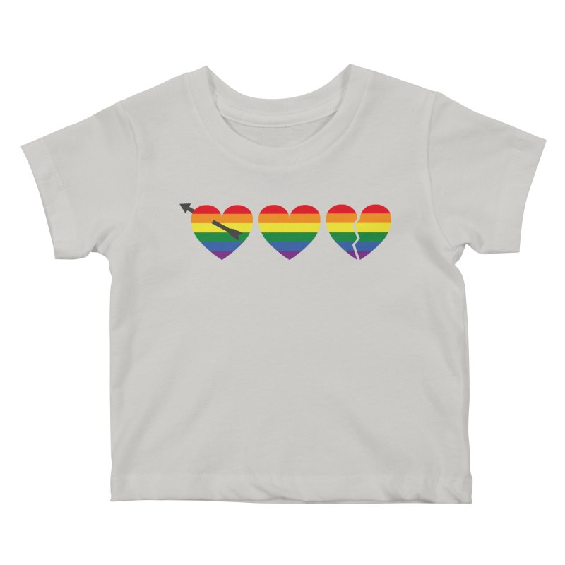 Hearts with gay flag (gay pride) Kids Baby T-Shirt by Beatrizxe