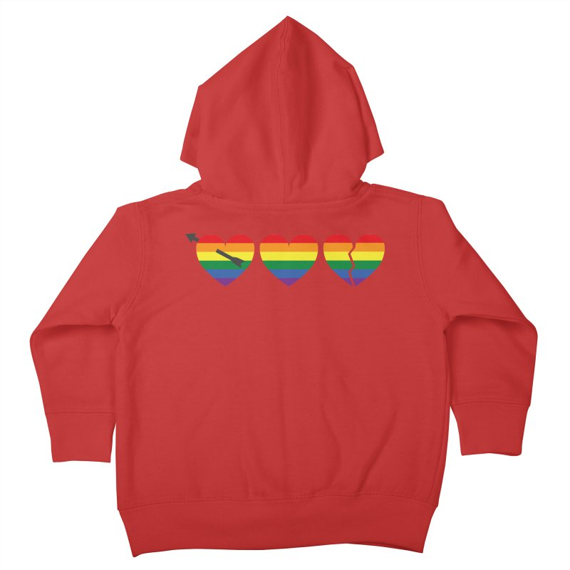 Hearts with gay flag (gay pride) Kids Toddler Zip-Up Hoody by Beatrizxe