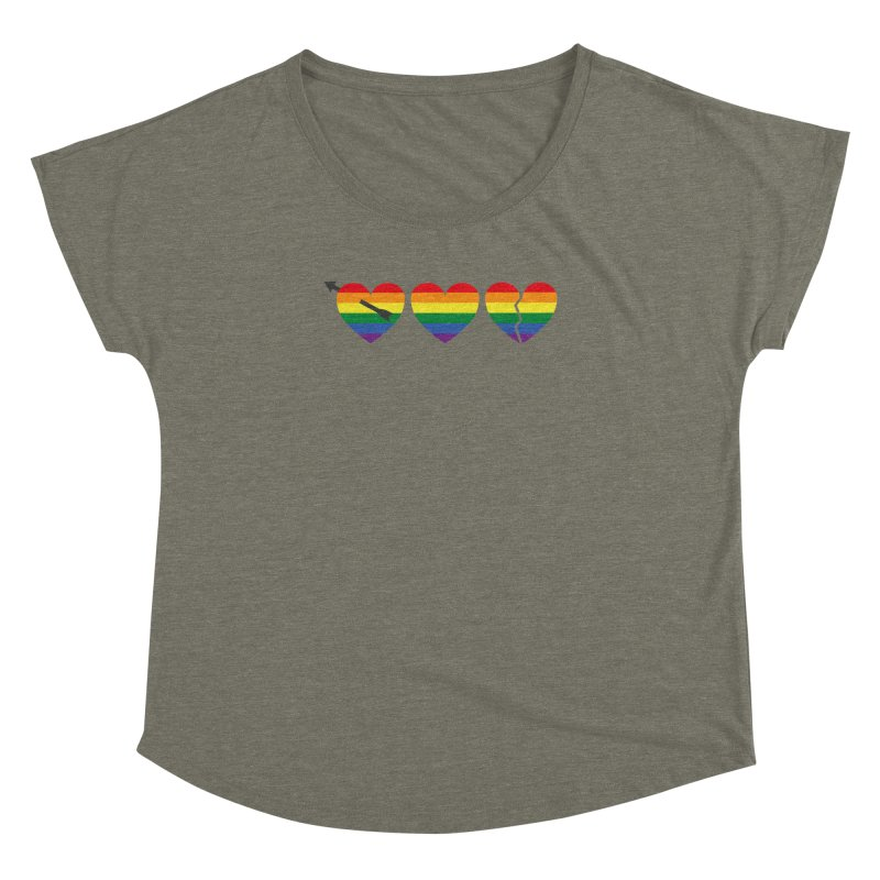 Hearts with gay flag (gay pride) Women's Dolman by Beatrizxe