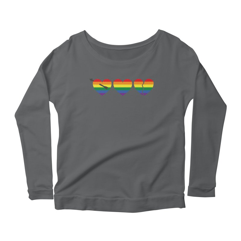 Hearts with gay flag (gay pride) Women's Longsleeve T-Shirt by Beatrizxe