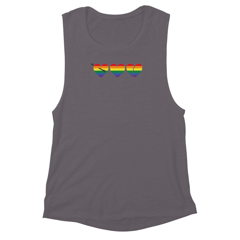 Hearts with gay flag (gay pride) Women's Muscle Tank by Beatrizxe