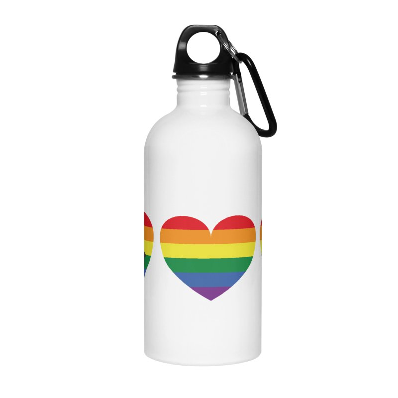 Hearts with gay flag (gay pride) Accessories Water Bottle by Beatrizxe
