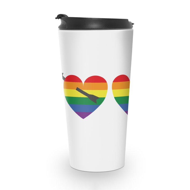 Hearts with gay flag (gay pride) Accessories Travel Mug by Beatrizxe