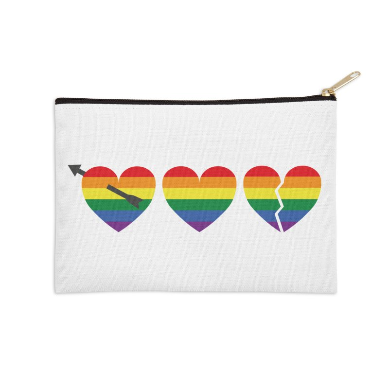 Hearts with gay flag (gay pride) Accessories Zip Pouch by Beatrizxe