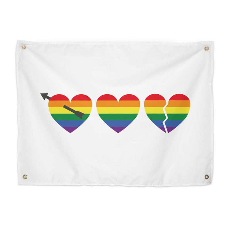 Hearts with gay flag (gay pride) Home Tapestry by Beatrizxe