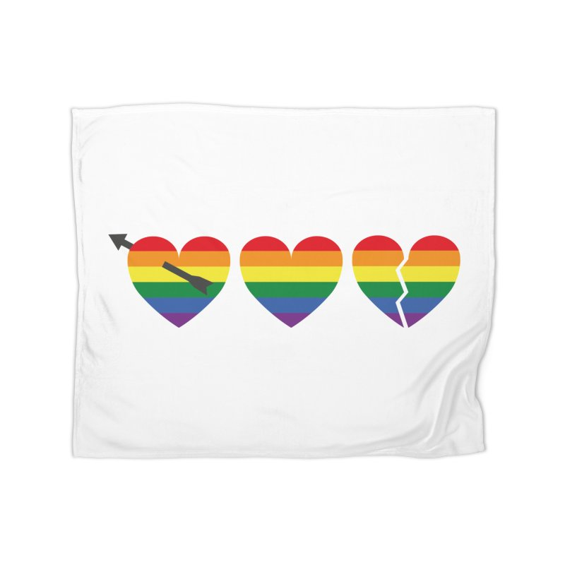 Hearts with gay flag (gay pride) Home Fleece Blanket Blanket by Beatrizxe