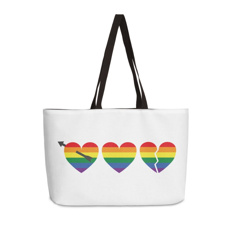 Hearts with gay flag (gay pride) Accessories Weekender Bag Bag by Beatrizxe