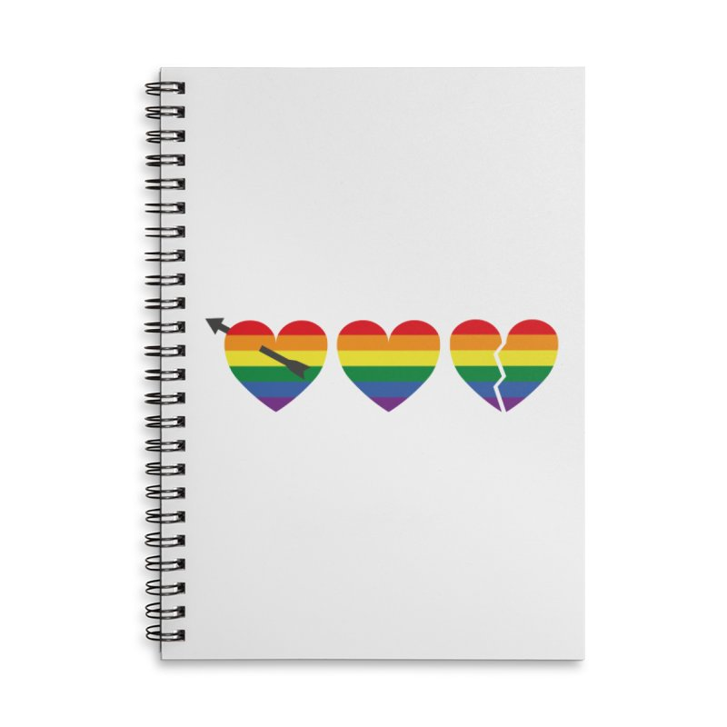 Hearts with gay flag (gay pride) Accessories Lined Spiral Notebook by Beatrizxe