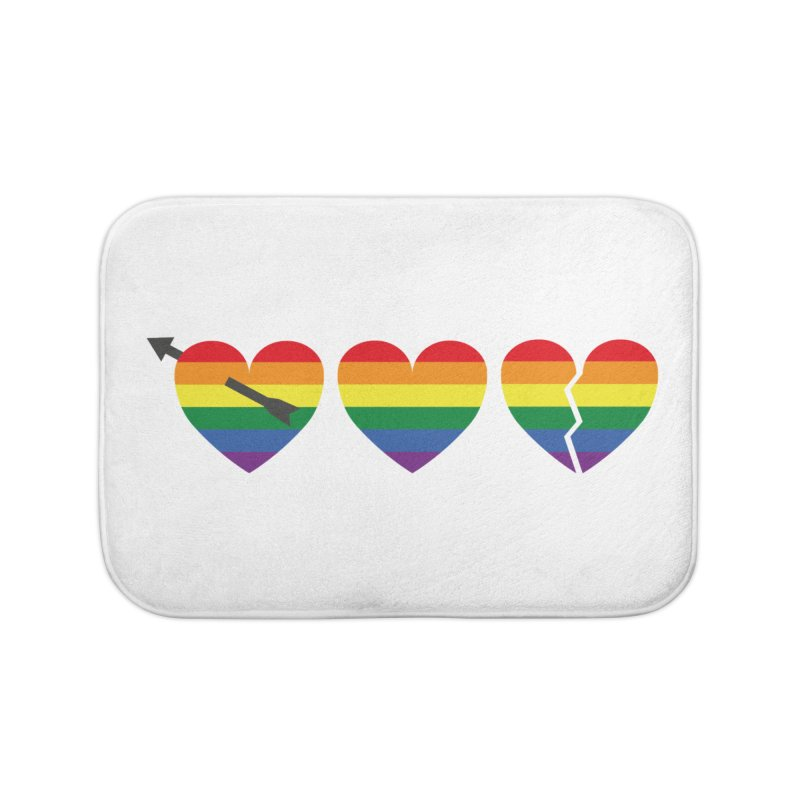 Hearts with gay flag (gay pride) Home Bath Mat by Beatrizxe