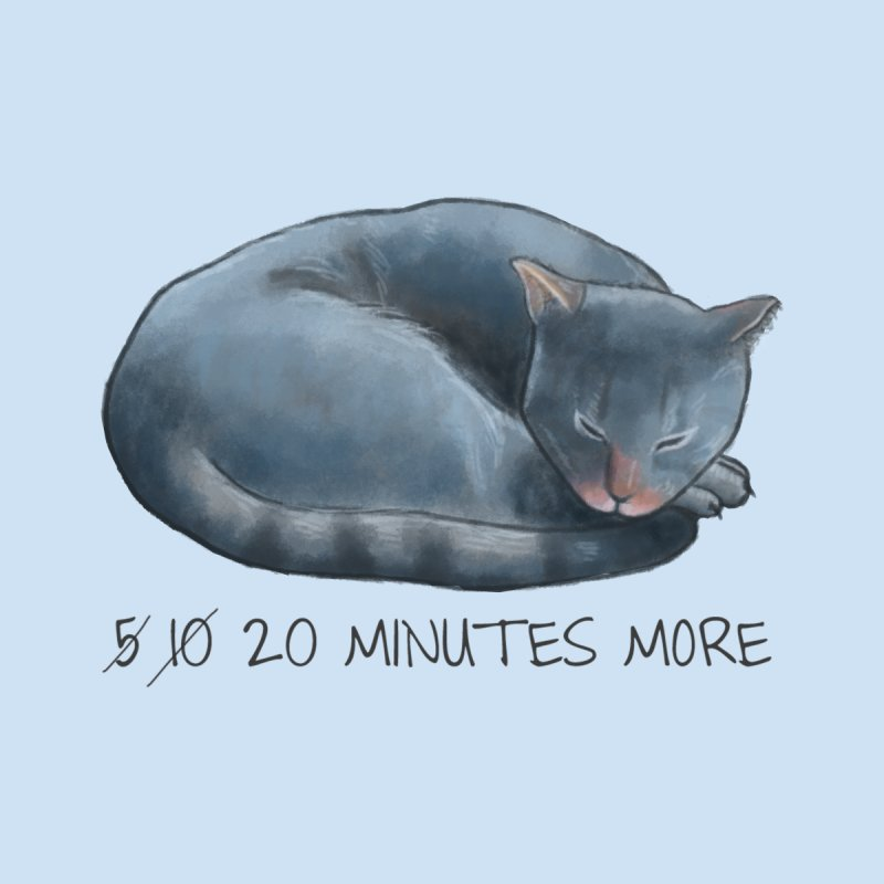 Sleepy Cat - 20 minutes more - Lazy Animals Home Stretched Canvas by Beatrizxe