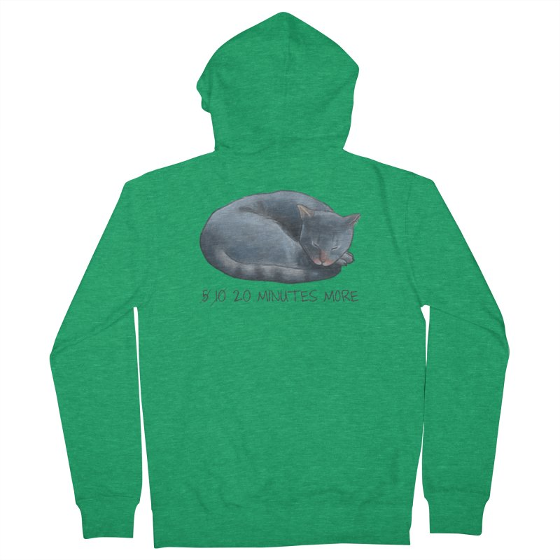 Sleepy Cat - 20 minutes more - Lazy Animals Women's Zip-Up Hoody by Beatrizxe