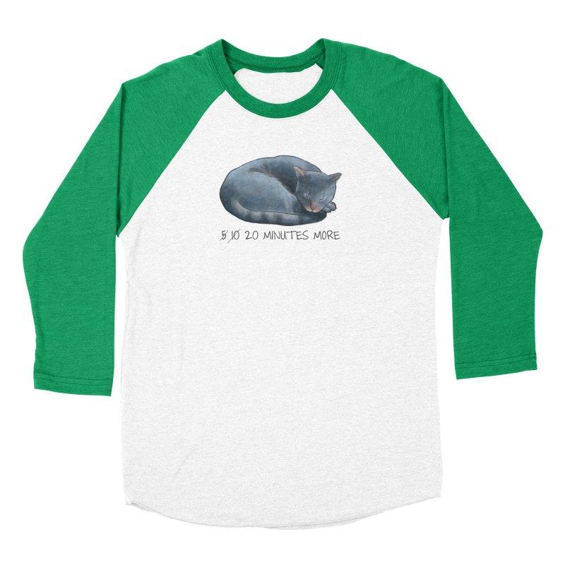 Sleepy Cat - 20 minutes more - Lazy Animals Men's Baseball Triblend Longsleeve T-Shirt by Beatrizxe