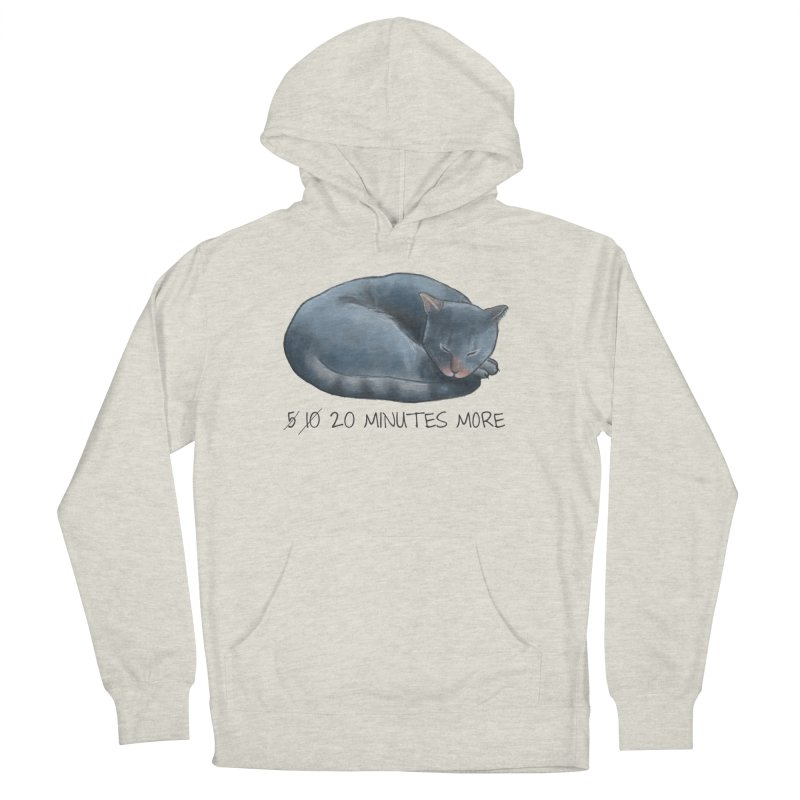 Sleepy Cat - 20 minutes more - Lazy Animals Women's French Terry Pullover Hoody by Beatrizxe