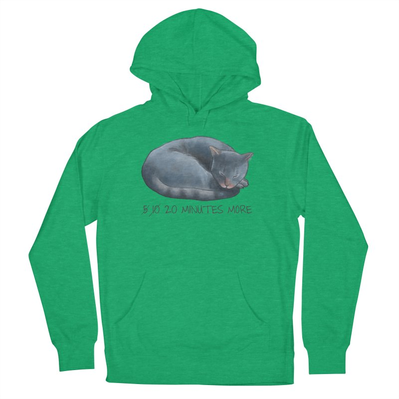Sleepy Cat - 20 minutes more - Lazy Animals Men's French Terry Pullover Hoody by Beatrizxe