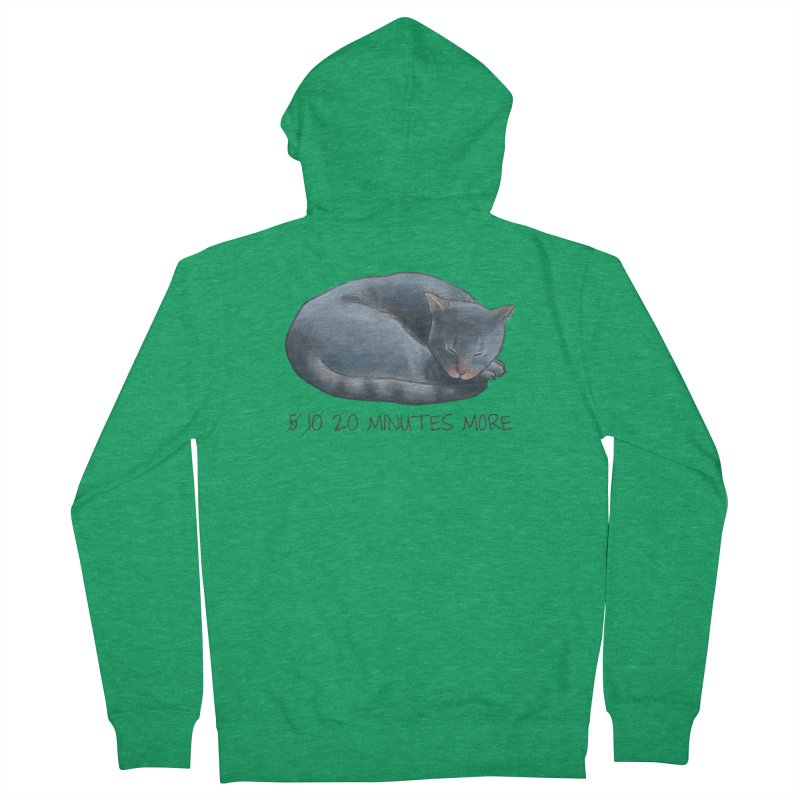 Sleepy Cat - 20 minutes more - Lazy Animals Men's French Terry Zip-Up Hoody by Beatrizxe