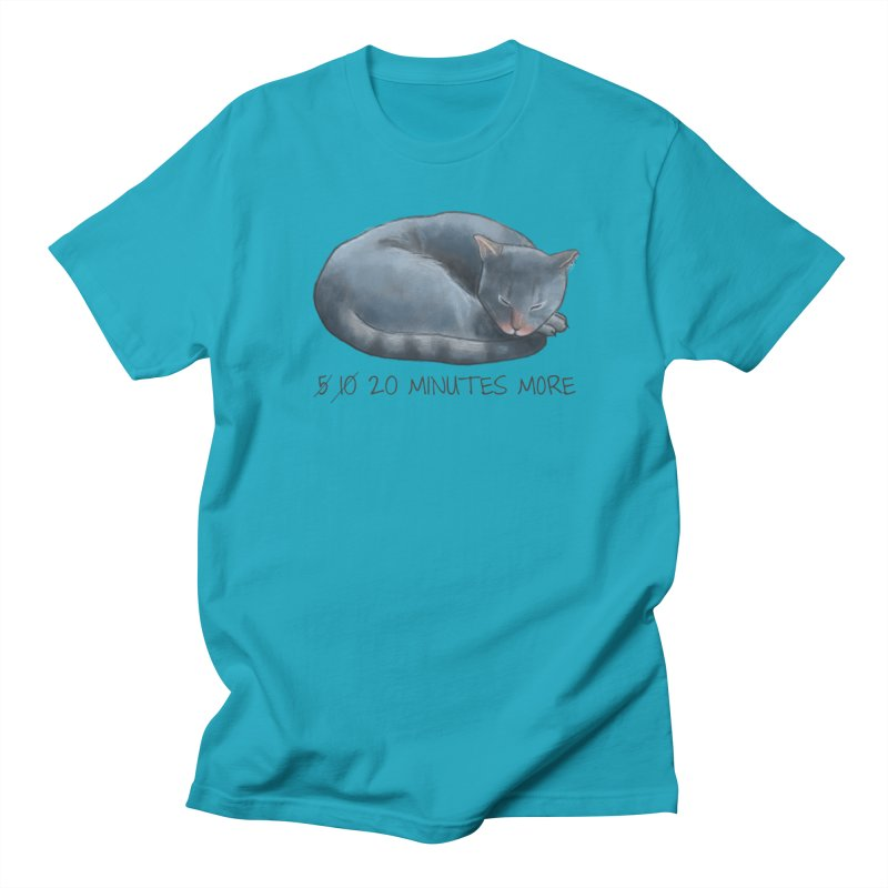 Sleepy Cat - 20 minutes more - Lazy Animals Men's T-Shirt by Beatrizxe