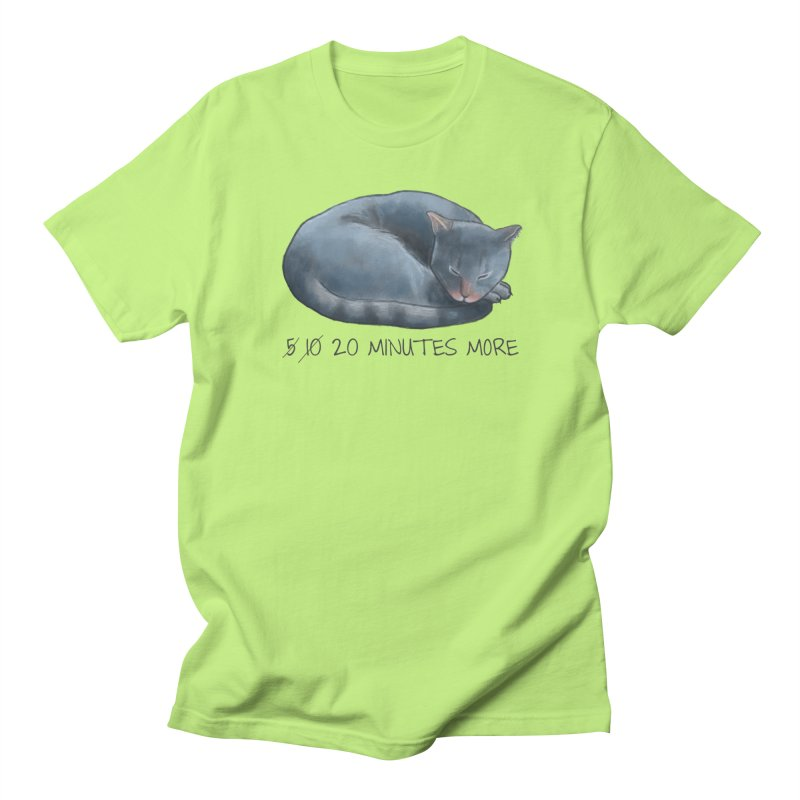 Sleepy Cat - 20 minutes more - Lazy Animals Men's Regular T-Shirt by Beatrizxe