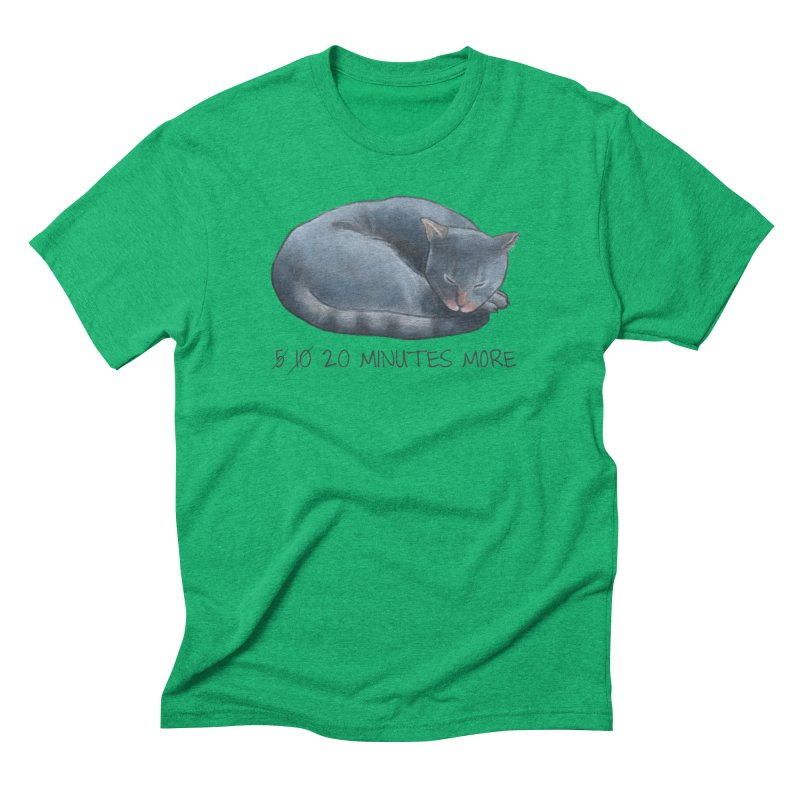 Sleepy Cat - 20 minutes more - Lazy Animals Men's Triblend T-Shirt by Beatrizxe